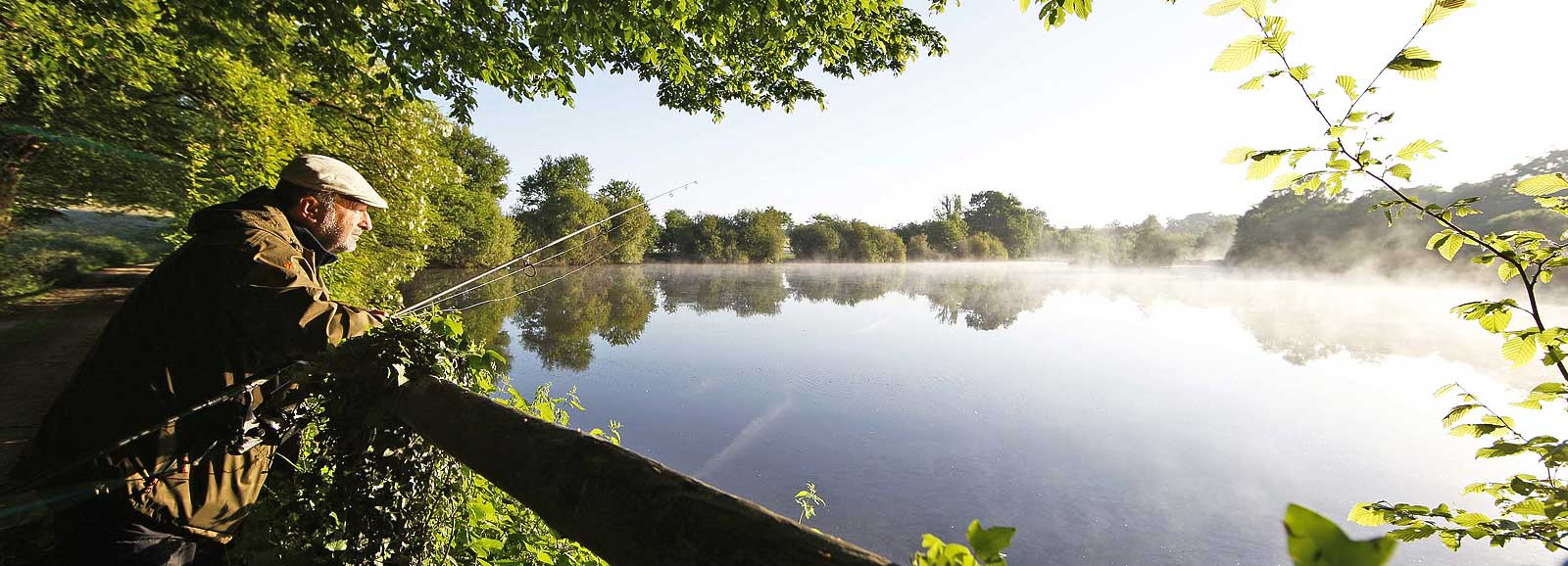 Napoleonic Lake & Cottage - Le Queroy Fishing Holidays